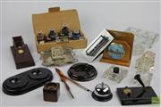 Sale 8505 - Lot 69 - Desk Top Items Including Inkwells etc