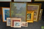 Sale 8503 - Lot 2043 - Group of Assorted Paintings, majority signed (10)