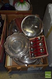 Sale 8509 - Lot 2295 - Box of Plated Wares Inc Hardy Brothers Comport