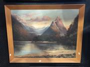 Sale 8861 - Lot 2011 - Michael Coghlan - Milford Sound, NZoil on canvas, 73 x 93cm, unsigned