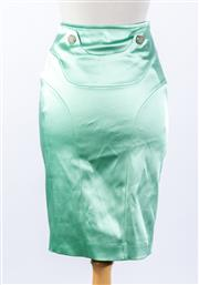 Sale 8891F - Lot 31 - A Versace Collection mint satin pencil skirt, approx size 8