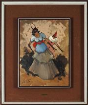 Sale 8914 - Lot 2059 - Italian School (Scotti Narcisco Douglas) - Untitled (Masquerade, Carnivale in Venice) 39 x 29 cm