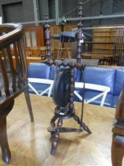 Sale 7943A - Lot 1522 - Early Bobbin Turned Spinning Wheel