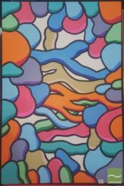 Sale 8446 - Lot 2001 - Jack Vigor (Street Artist, CASPER) - Dex, 2016 91.5 x 60.5cm (stretched & ready to hang)