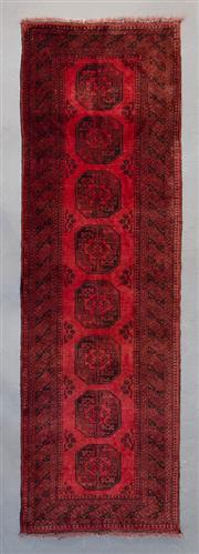 Sale 8499C - Lot 82 - Afghan Qunduzi 280cm x 77cm