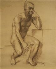 Sale 8518 - Lot 2074 - Hans Kohl (1897 - 1990) - Seated Model 52.5 x 40cm