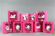 Sale 8599 - Lot 51 - Boxed Royal Albert Porcelain Xmas Decorations