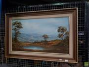 Sale 8619 - Lot 2074 - Louise Repsold - Landscape 39 x 70cm