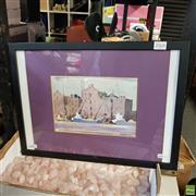Sale 8636 - Lot 2068 - Justin Parker - The Docks 33 x 45cm (frame)