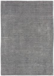 Sale 8651C - Lot 48 - Colorscope Collection; Wool and Bamboo Silk - Silver/Grey Lines Handknotted Rug, Origin: India, Size: 160 x 230cm, RRP: $2499