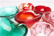 Sale 8701 - Lot 72 - Coloured Glass Group of Dishes and Ashtrays