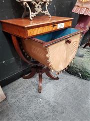 Sale 8700 - Lot 1006 - Mahogany Sewing Table