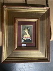 Sale 8981 - Lot 2080 - Vintage Print of a Lady, 18x12cm