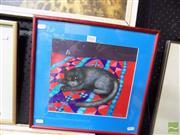 Sale 8461A - Lot 2047 - Kilmeny Niland (1950 - 2009) - Black Cat, 1980 24 x 26.5cm