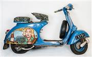 Sale 8492 - Lot 542 - David Bromley (1960 - ) - Piaggio Genova Pa 150 c1950s Vespa (Unregistered) 100cm (overall height)
