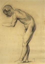 Sale 8518 - Lot 2075 - Hans Kohl (1897 - 1990) - Nude Study 53 x 37.5cm