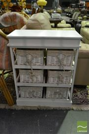 Sale 8520 - Lot 1098 - Small Wicker Drawer Unit
