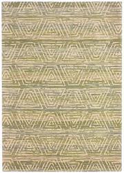 Sale 8651C - Lot 49 - Colorscope Collection; NZ Wool and Pure Silk - Beige/Green Geometrics Rug, Origin: China, Size: 160 x 230cm, RRP: $1899
