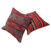 Sale 8761C - Lot 7 - A Pair of Vintage Turkish Kilim Cushions, Wool, 50x50cm, RRP $350