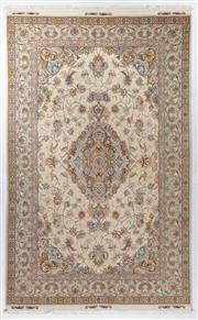 Sale 8780C - Lot 279 - A Persian Tabriz Very Super Fine Wool And Silk Pile, 306 x 195cm
