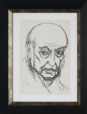 Sale 8908A - Lot 5050 - Desiderius Orban (1884 - 1986) - Self Portrait 29 x 20 cm