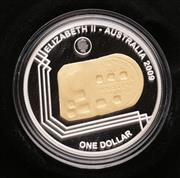Sale 9060 - Lot 48 - 2009 Subscription Coin 1852 Adelaide Assay Office Gold Ingot $1 Selectively Gold Plated Silver Proof Coin