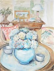 Sale 9042A - Lot 5088 - Joy Lieber - Hydrangeas 101.5 x 76 cm