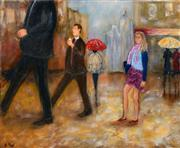 Sale 8619 - Lot 2007 - Stanley Perl (1942 - ) - Walking in the City 61 x 76cm