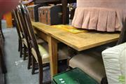 Sale 8390 - Lot 1218 - Oak Extending Draw-Leaf Table (240cm)