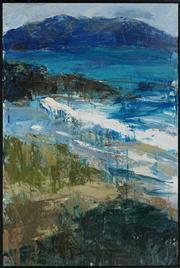 Sale 8467 - Lot 542 - Laura Matthews (1964 - ) - Tasmanian Landscape 137.5 x 91.5cm