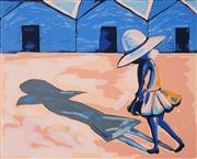 Sale 8892 - Lot 536 - Charles Blackman (1928 - 2018) - The Shadow (Schoolgirl Series) 62 x 77.5 cm