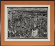 Sale 9028 - Lot 2063 - A collection of prints depicting New York city land marks by S. Faxxberg -