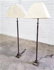 Sale 9059 - Lot 1080 - Pair of Modern Column Form Floor Lamps (H:123cm)