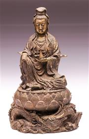 Sale 9081 - Lot 86 - Bronze Figure Of Guanyin H: 27cm