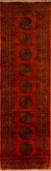 Sale 8455C - Lot 51 - Afghan Qunduzi Runner 300cm x 80cm