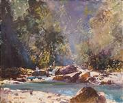 Sale 8575 - Lot 518 - Rubery Bennett (1893 - 1987) - Crystal Cascades, Cairns North Queensland 37.5 X 45cm
