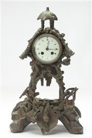 Sale 8662 - Lot 23 - Bronze Cased Mantle Clock