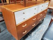 Sale 8839 - Lot 1094 - G-Plan Dual Tone Tola Chest of Twelve Drawers