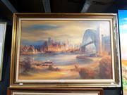 Sale 8695 - Lot 2068 - Kenneth Jack - Sydney from Kirribilli, Decorative Print, 59 x 85cm (frame size)