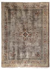 Sale 8372C - Lot 25 - A Pure Silk Pile On Silk Warp Hand Knotted Carpet, 40 Years Old In Very Good Condition , 270 x 360cm