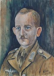 Sale 8821 - Lot 558 - William Straube (1871 - 1954) - German Afrika Korps (Italian Division), 1944 30 x 20cm (image)