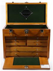 Sale 9003 - Lot 39 - Timber Cased Jewellery Box (42 x 52 x 27cm)