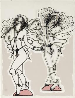 Sale 9139 - Lot 2036 - Frank Malerba - Dancing Nudes, 2010 46 x 36 cm