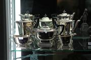 Sale 8379 - Lot 41 - Silver Plated 5 Piece Tea Setting
