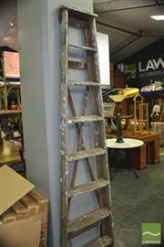 Sale 8390 - Lot 1499 - Large Timber A-Frame Ladder