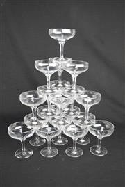 Sale 8396 - Lot 29 - Crystal Champagne Bowls