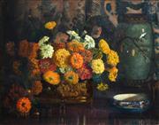 Sale 8408 - Lot 578 - Amy Gill (XIX - XX) - Still Life 55 x 70.5cm
