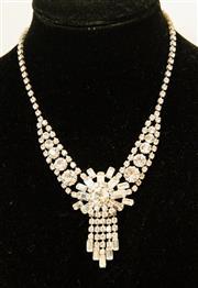 Sale 8420A - Lot 60 - 1950's Art Deco style vintage diamante/rhinestone starburst necklace, condition: very good
