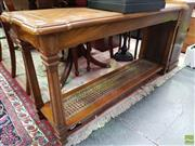 Sale 8580 - Lot 1055 - Timber Hall Table (68 x 131 x 41cm)