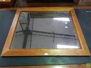 Sale 8601 - Lot 1447 - Timber Framed Mirror